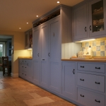 Painted Cabinets with Glass